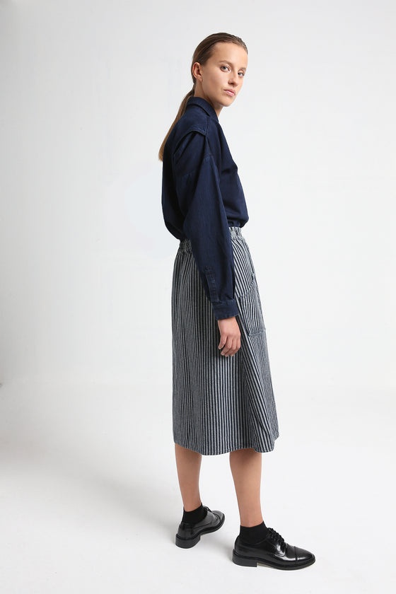 JOY reversible skirt striped