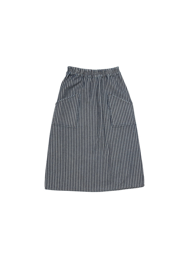 JOY denim skirt stripes