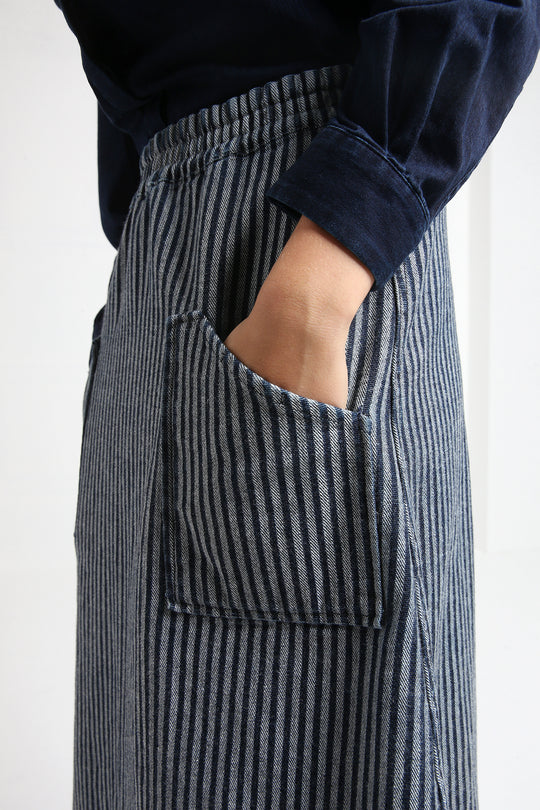 JOY jeans skirt with stripes
