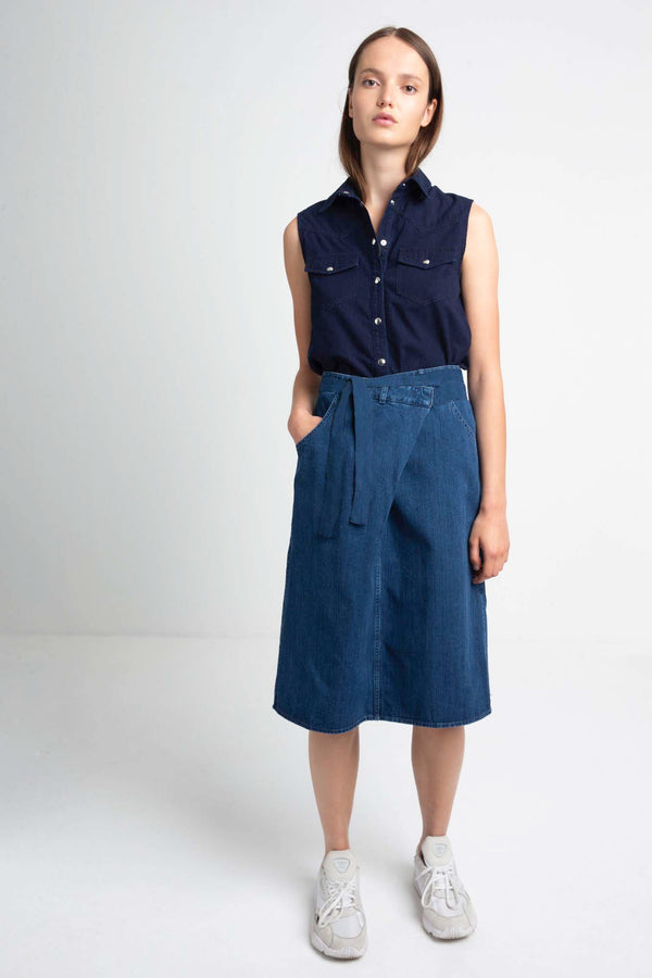JUDIE wrap denim skirt for summer season