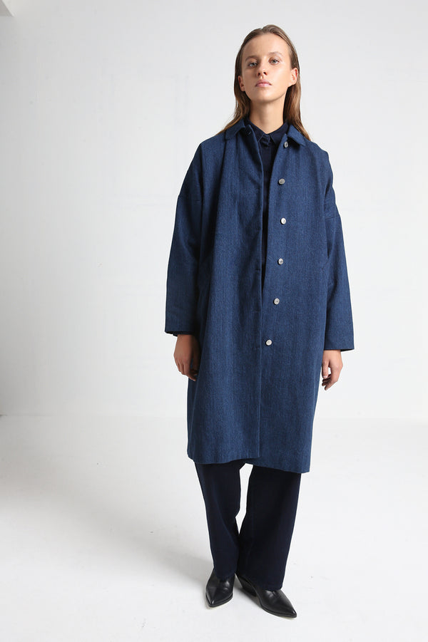 MAGNOLIA long denim coat