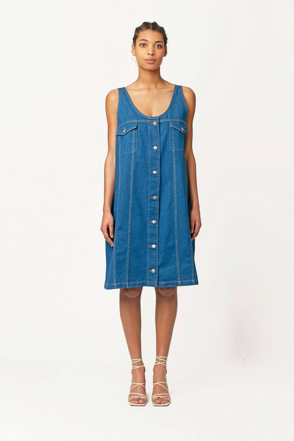 Marcelle oversized denim dress