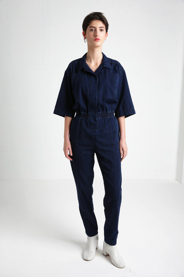 OLGA denim jumpsuit for women