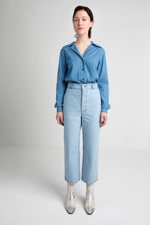 PALOMA denim pants sky blue