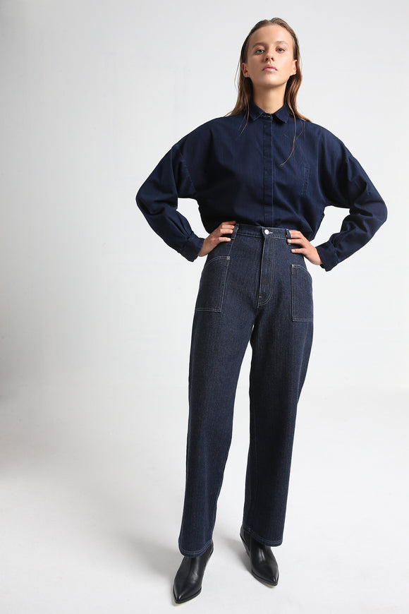 PAXTON dark blue jeans trousers