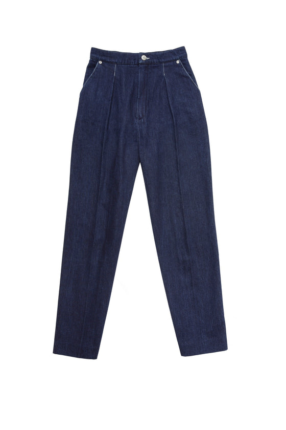 PATTI dark blue high waisted jeans made from Italian denim FAÇON JACMIN
