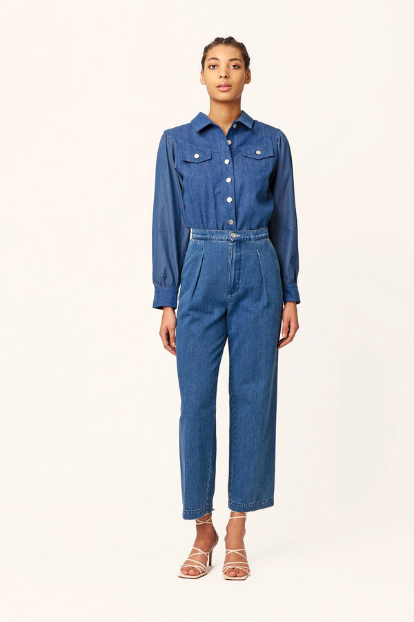 Patti high waisted blue jeans