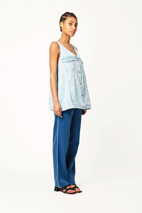 Piksy loose denim trousers