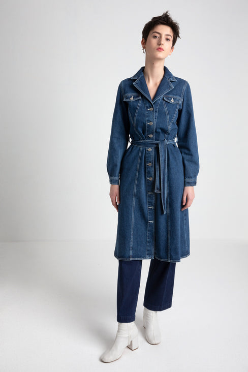 ROXAN denim fabric trench dress