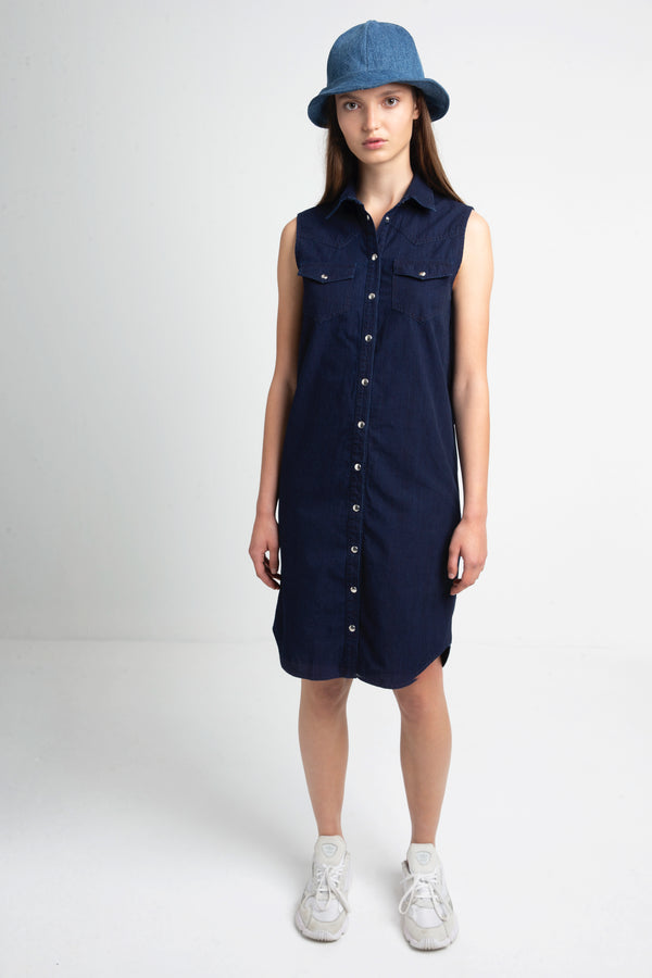 Roxie denim shirtdress for women
