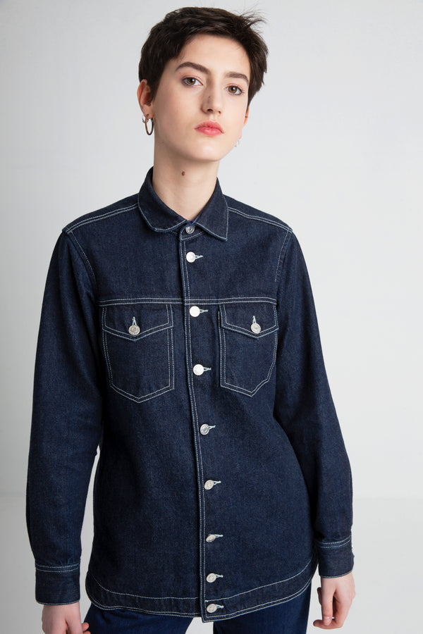 SELMA Japanese denim jacket women