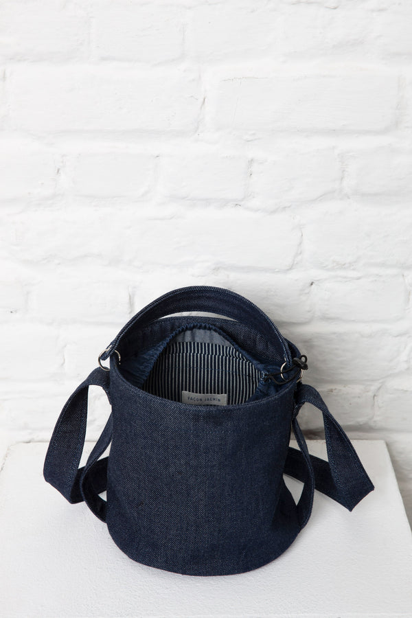 seau bucket denim bag for women