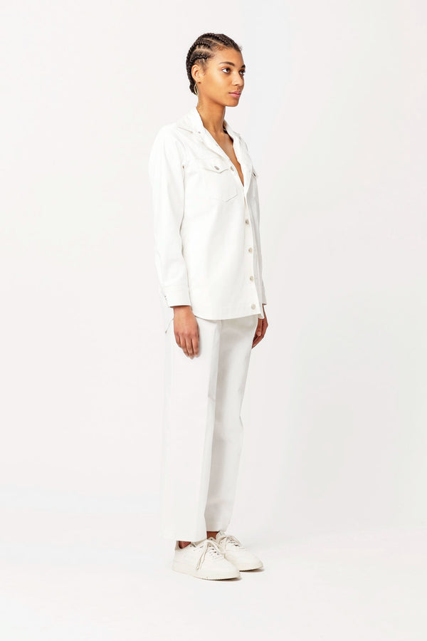 Claudia classic white jeans jacket