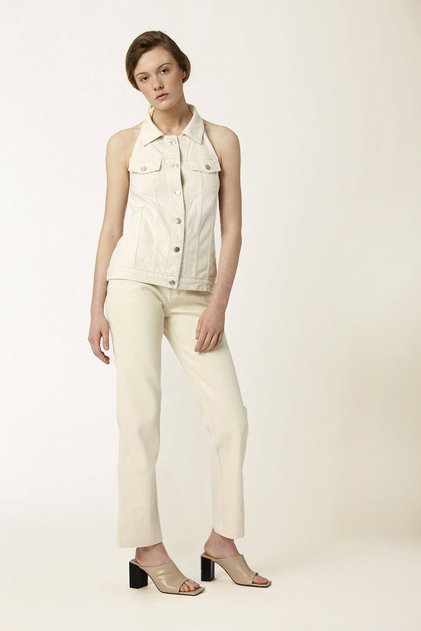 Tara ecru sleeveless top spring summer