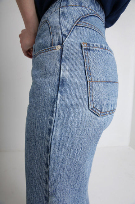 clothing from Japan light blue POLA jeans FAÇON JACMIN