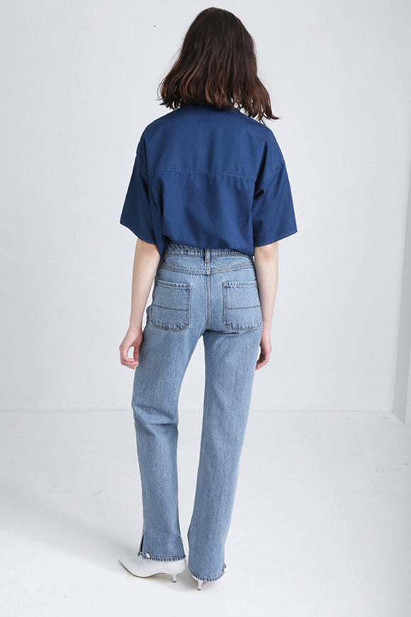 POLA denim high waisted jeans fashion for women FAÇON JACMIN