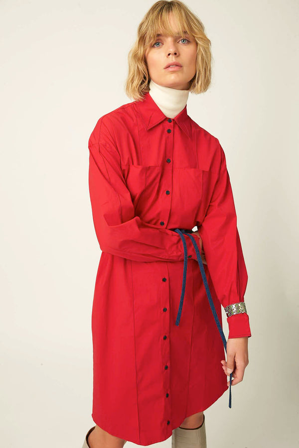Oversized shirt dress winter autumn belgian designer