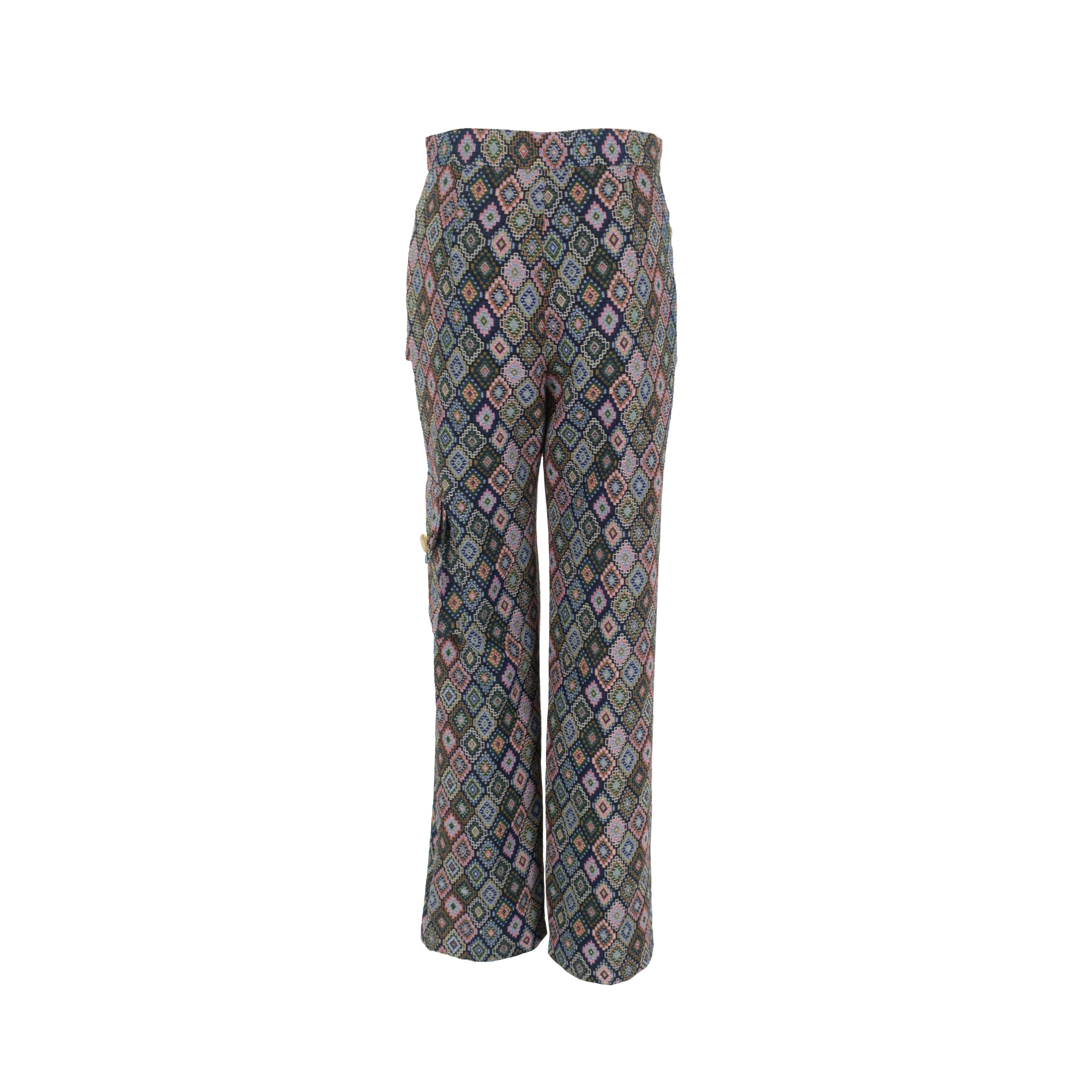 Multicolor Long Trousers with Pockets Grey