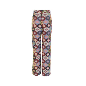 Multicolor Long Trousers with Pockets