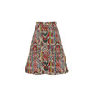 Multicolor Midi Skirt with Pockets White