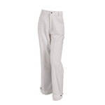 Load image into Gallery viewer, Ribbed Corduroy High Waist Trousers With Pockets White