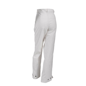 Ribbed Corduroy High Waist Trousers With Pockets White