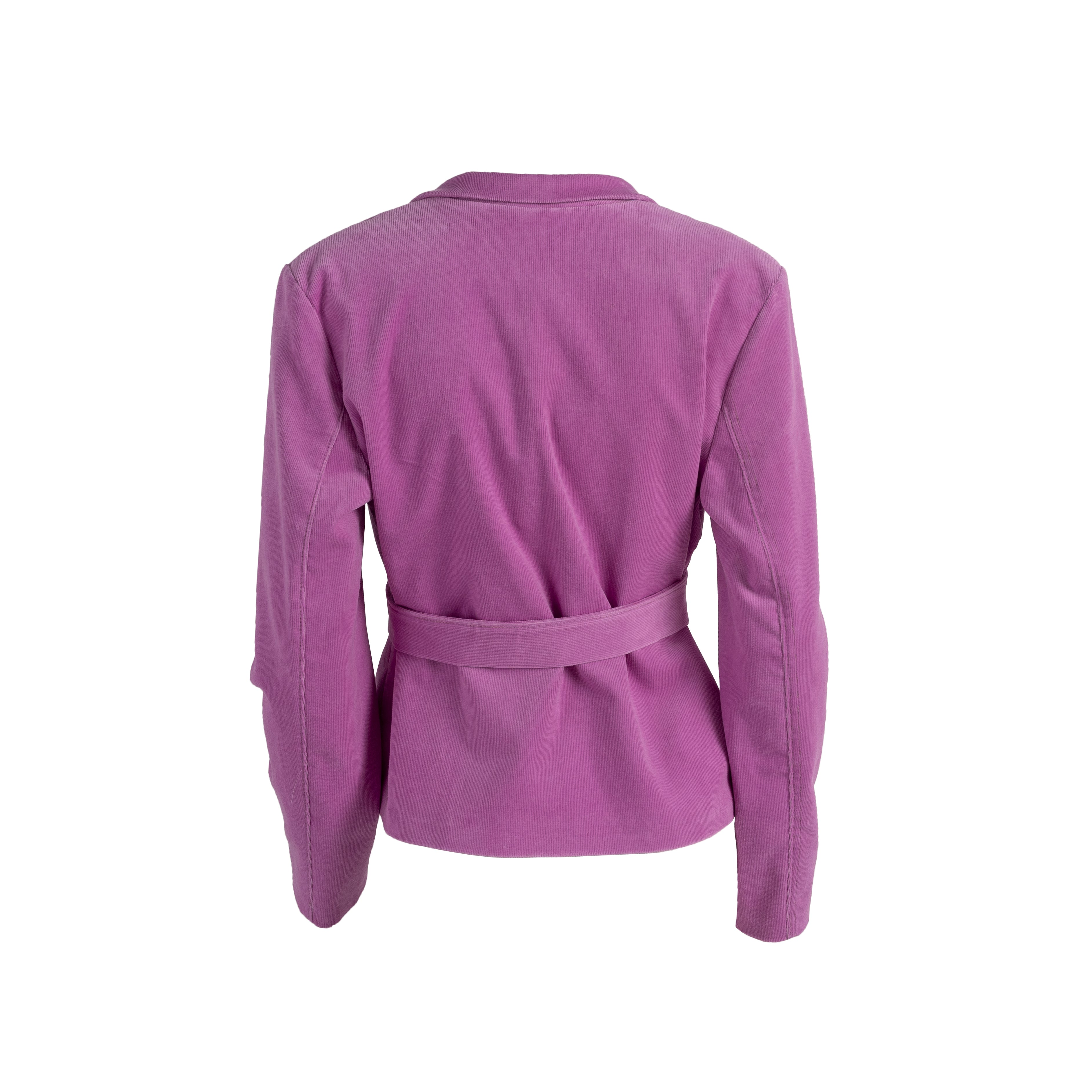 Ribbed Corduroy Blazer With Pockets Pink