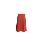 Load image into Gallery viewer, A-Line Wool Button Up Midi Skirt with Front Pockets Burgundy