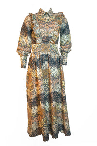 Pisang Bali Long Sleeve Maxi Dress