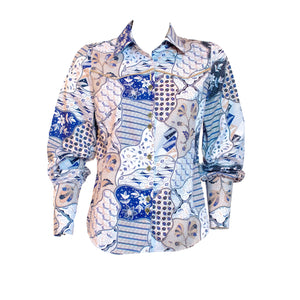 Sekar Jagad Women's Long Sleeve Button Up Shirt