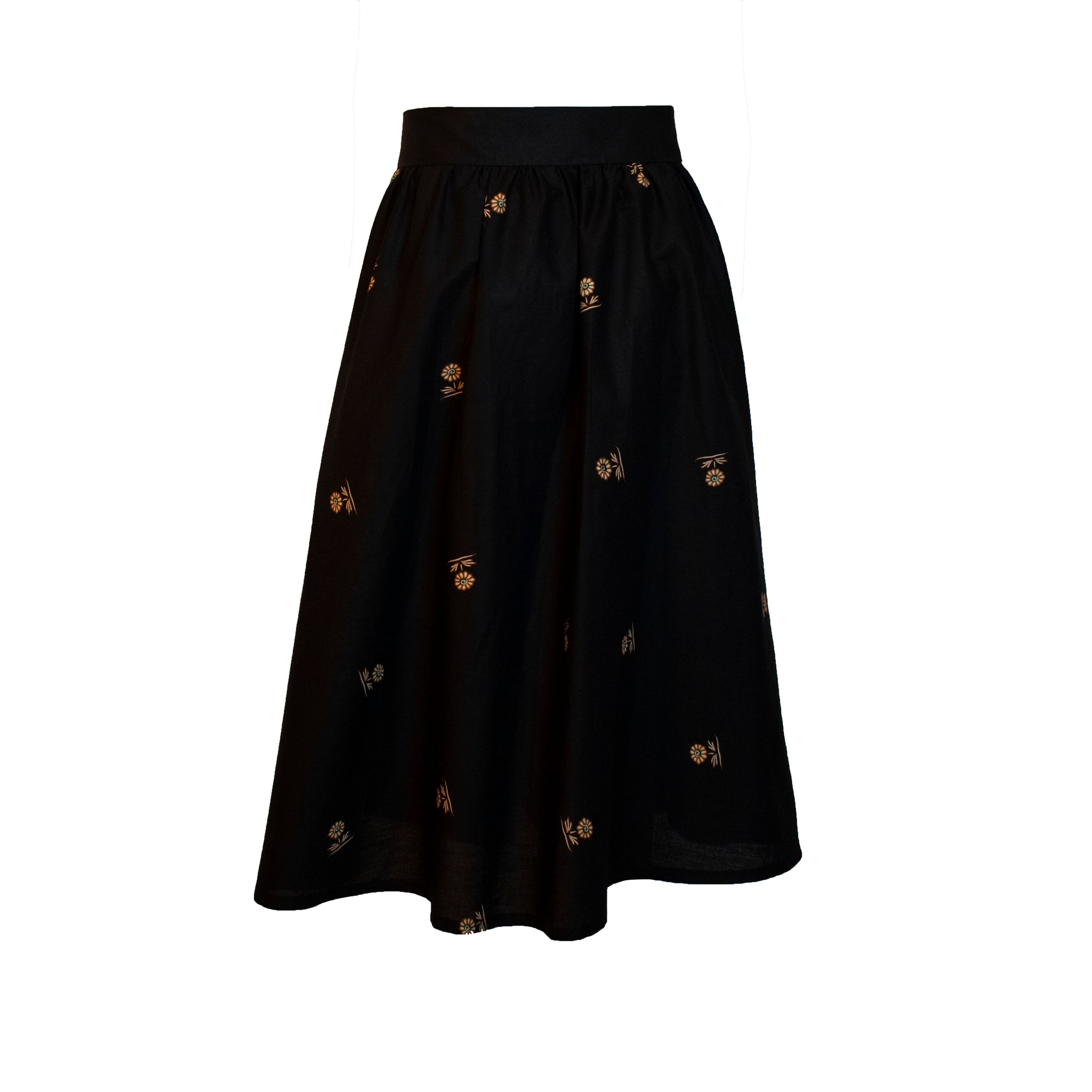 Java Hokokai Midi Wrap Skirt