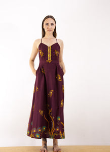 Peranakan Open Back Maxi