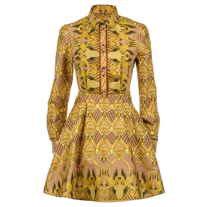 Lotus Long Sleeve Tea Dress