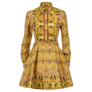 Lotus Long Sleeve Tea Dress SOLD OUT