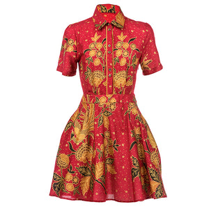 Alasalasan Short Sleeve Tea Dress