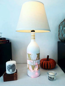 Monogrammed Tri-Light Lamp