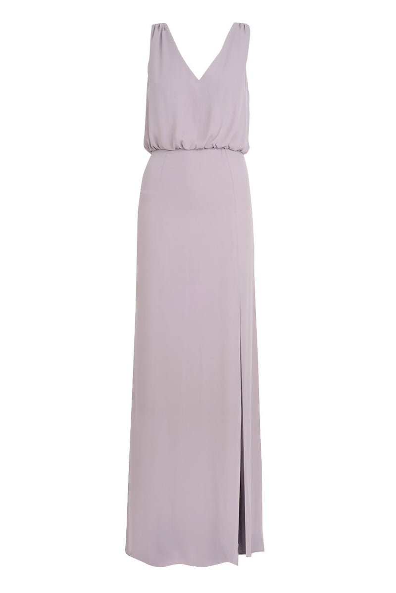 Bridesmaid Dress - FRONT SLIT SLEEVELESS GOWN Violette