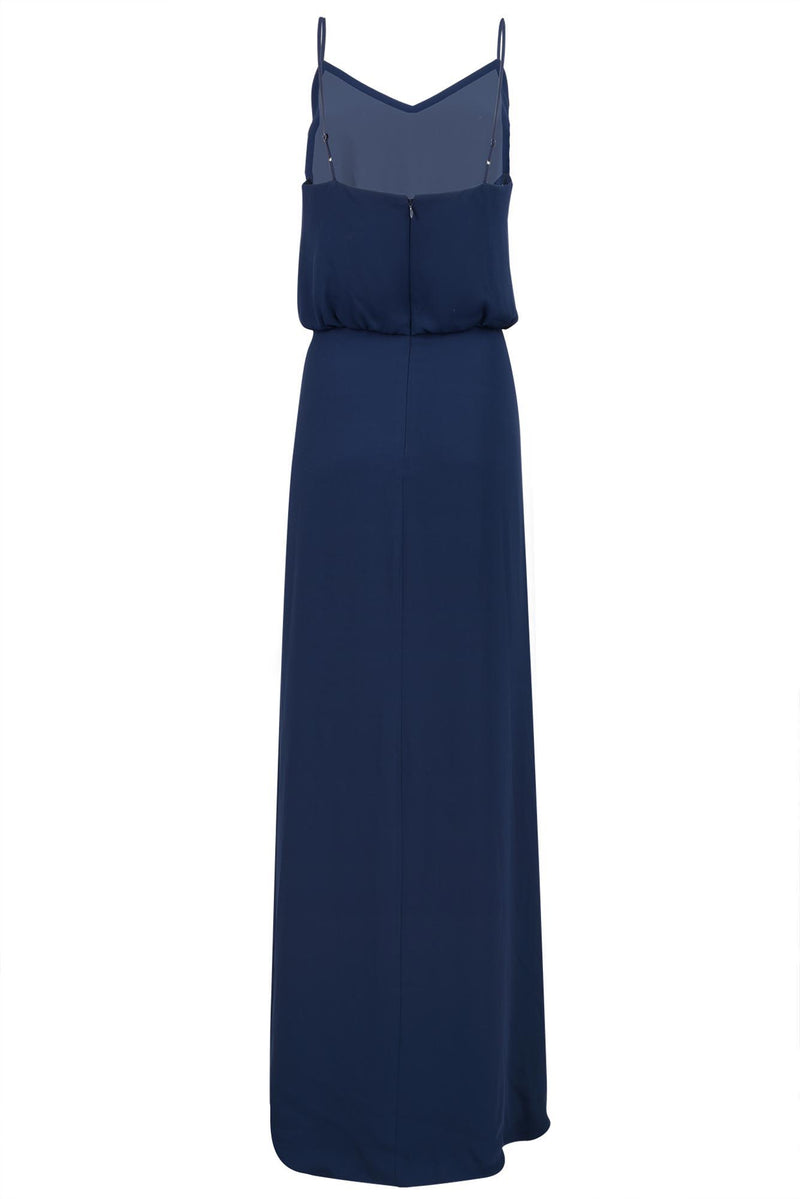 bridesmaids dress georgette cami in navy back