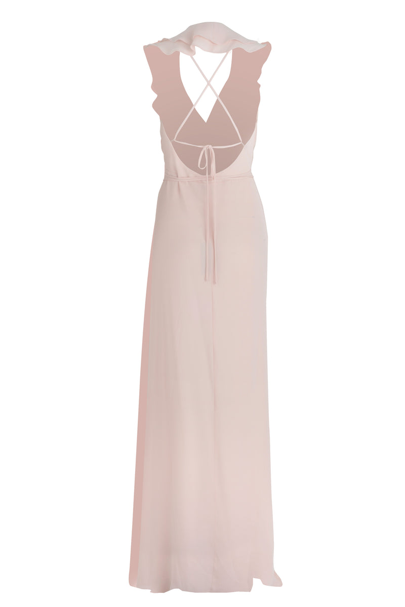 Bridesmaid Dress - Ballet Pink (Back)
