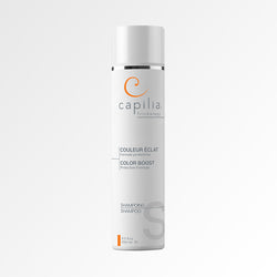 Capilia Trichology Color Boost shampoo for colored or bleached hair | Shampoing Couleur Éclat pour cheveux colorés ou décolorés.