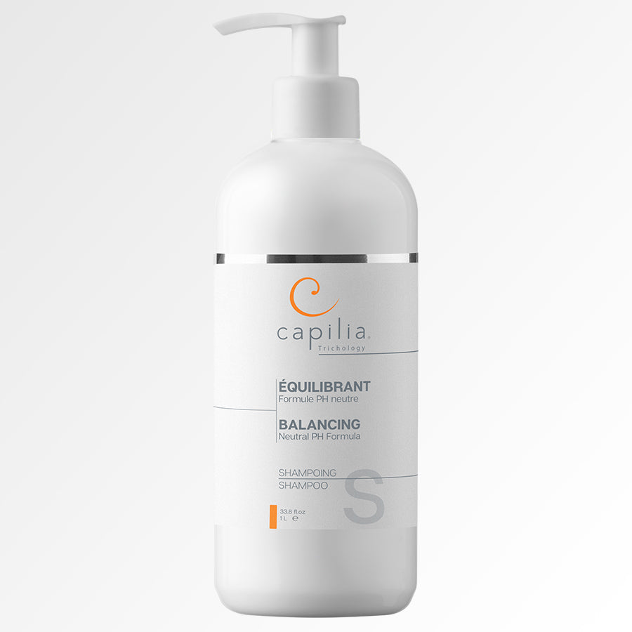 Load image into Gallery viewer, Capilia Trichology Balancing Shampoo Large Format | Shampoing Équilibrant Grand format. Hypoallergenic neutral PH Formula for all types of hair | Formule PH neutre pour tous les types de cheveux.