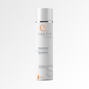 Load image into Gallery viewer, Capilia Trichology Balancing Shampoo | Shampoing Équilibrant. Hypoallergenic neutral PH Formula for all types of hair | Formule PH neutre pour tous les types de cheveux.