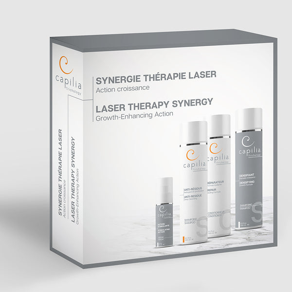 Capilia Trichology Laser Therapy Synergy kit Growth-Enhancing Action | Trousse Synergie thérapie laser Action croissance