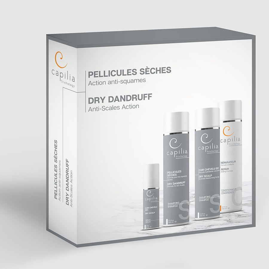 Load image into Gallery viewer, Capilia Trichology Dry Dandruff kit | Trousse Pellicules sèches