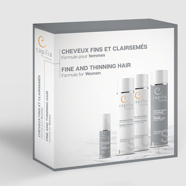 Capilia Trichology Fine and Thinning Hair kit | Trousse Cheveux fins et clairsemés