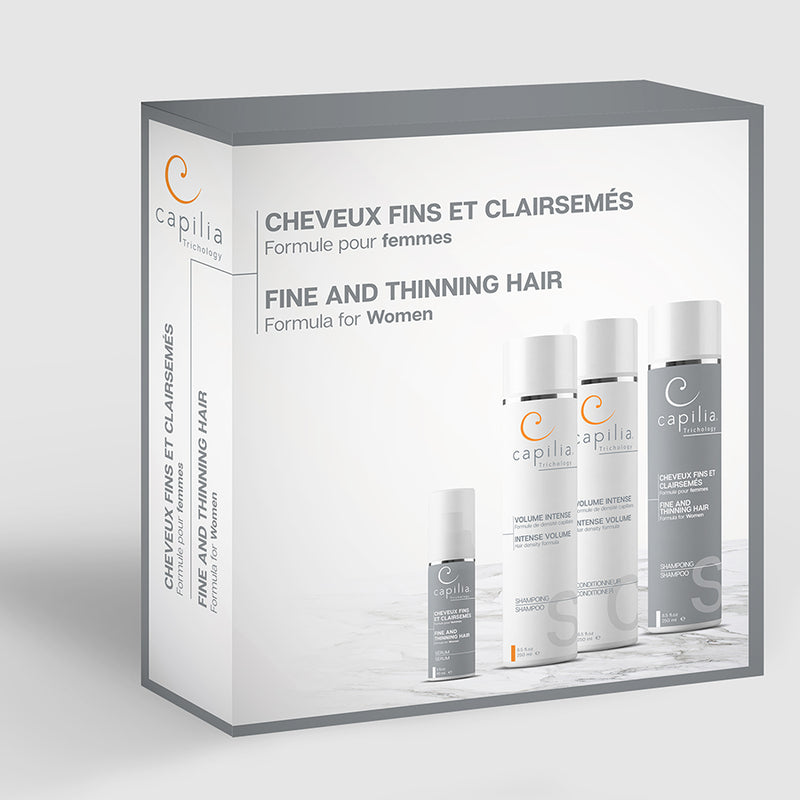 Capilia Trichology | Fine and Thinning Hair kit | Trousse Cheveux fins et clairsemés