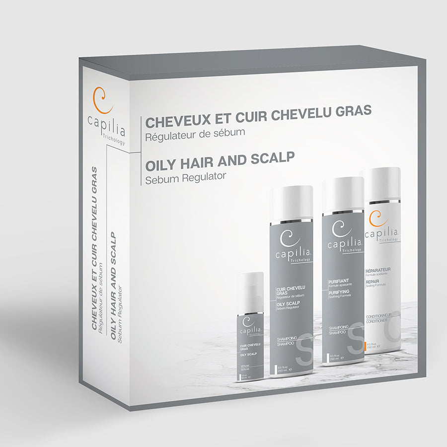 Capilia Trichology Oily hair and scalp kit | Trousse Cheveux et cuir chevelu gras