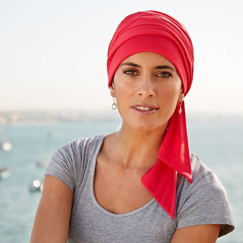 Headwear Bamboo | Bonnet bambou | Style 920 | red coral rouge corail