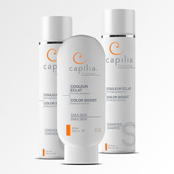 Capilia Trichology Color Boost trio for colored or bleached hair | Trio Couleur Éclat de Capilia Trichology pour cheveux colorés ou décolorés