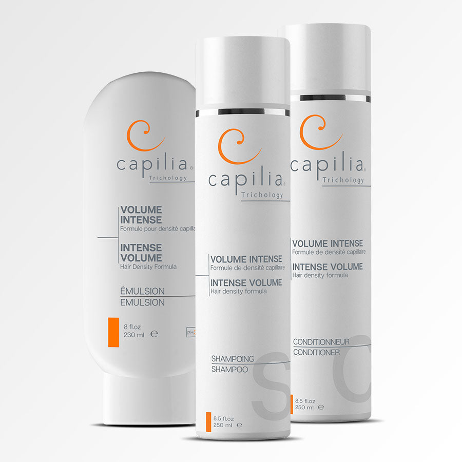 Capilia Trichology Intense Volume trio for fine hair | Trio Volume Intense pour cheveux minces